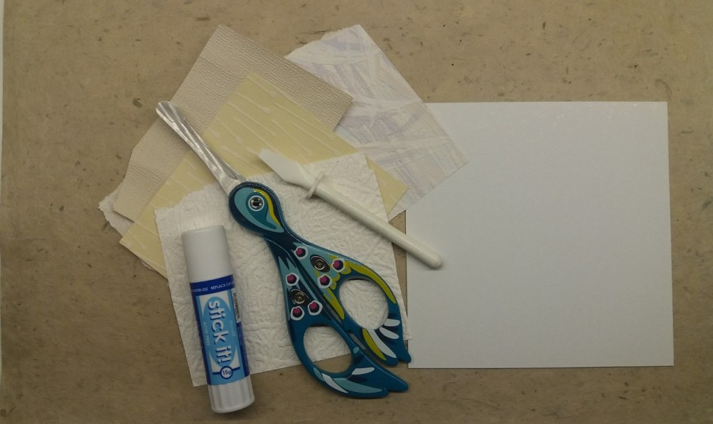 tools for making a collagraph plate 2