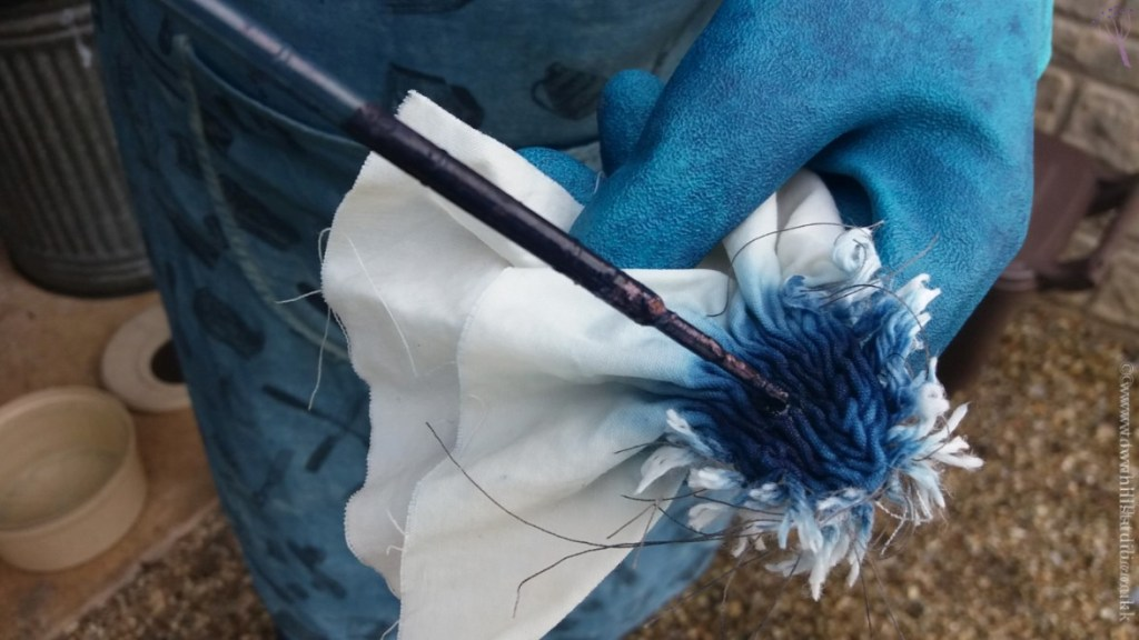 working with a pipette on shibori (3)