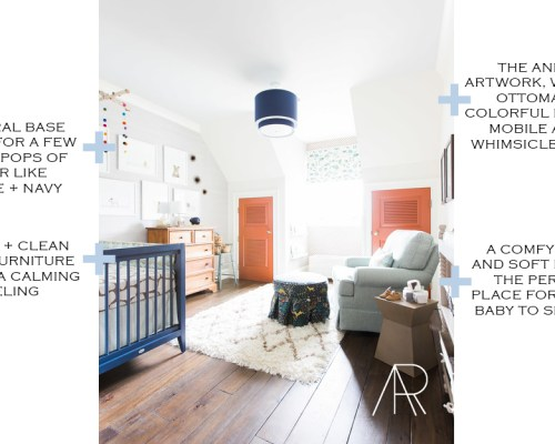 MARKET MONDAYS No. 2 || Town Lifestyle + Design || Get my breakdown of this little boys nursery, why it works and links for how to get a similar look in your design.