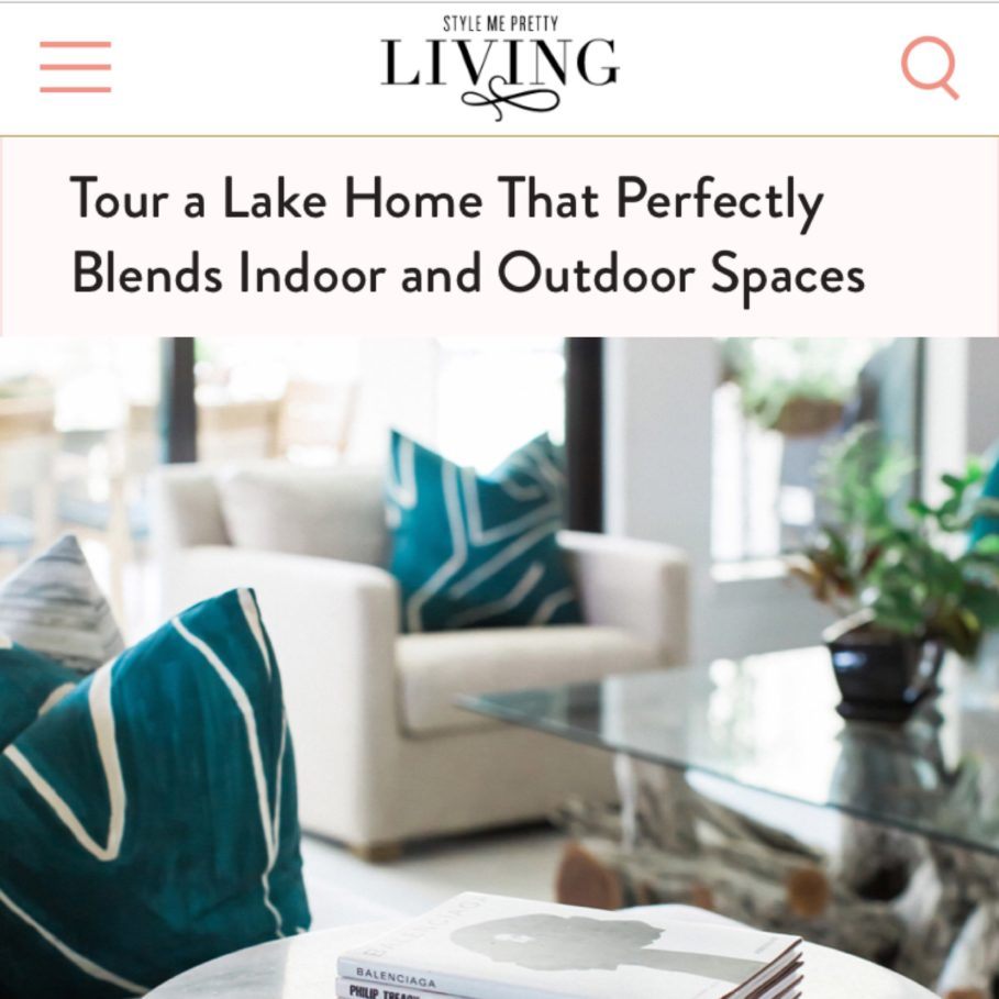 Town Lifestyle and Design | Press | Style Me Pretty Living | Lake House | Project Lake Ridge