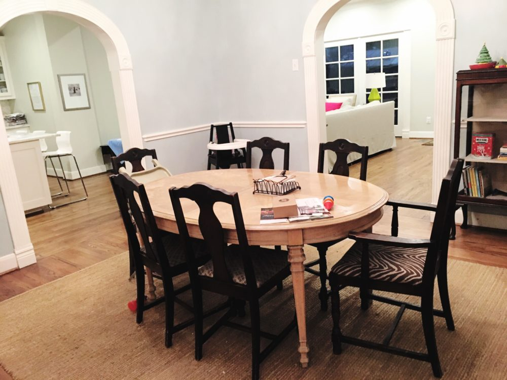 Town Lifestyle and Design || Introducing Project Houston Heights || Dining Room Before