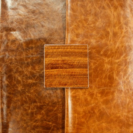 Veneer to Waxed Leather Match - custom capabilities