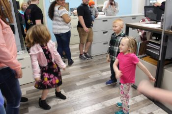 Kids dancing in accounting