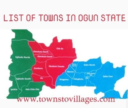 List of towns in Ogun state