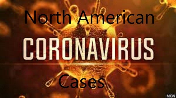North American countries with coronavirus cases