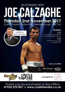 An Evening with Joe Calzaghe Hosted by Glen McCrory @ Castle Theatre | England | United Kingdom