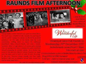 Raunds Film Afternoon - It's a Wonderful Life @ Saxon Hall | Raunds | United Kingdom