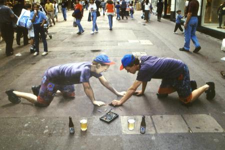 3D Sidewalk Chalk Art 3