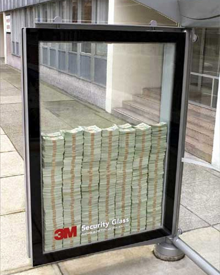 3M Security Glass Bus Stop Advertisement