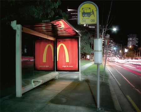 McDonalds Bus Stop Advertisement
