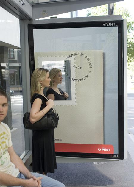 Australia Post Bus Stop Advertisement