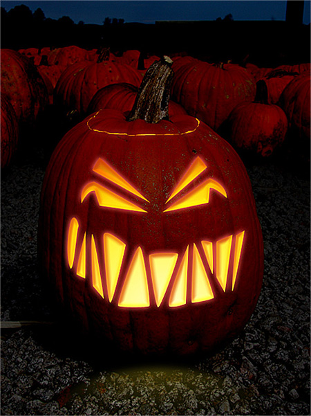 Carved Pumpkin in Photoshop