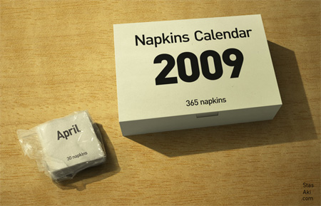2009 Napkins Calendar