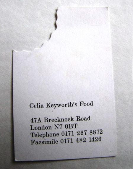 Celia Keyworths Food Business Card