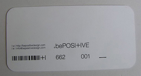 Be Positive Design Business Card