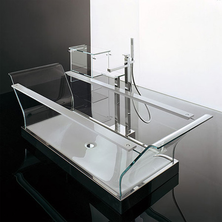 Novellini Cristalli Glass Bathtub
