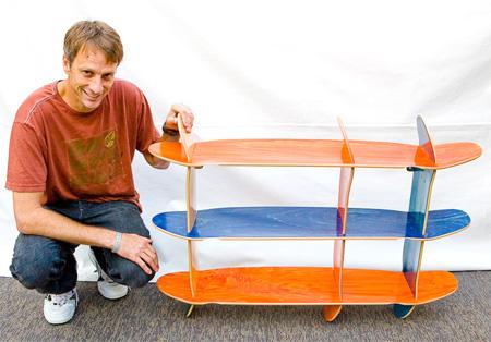 Skateboard Bookshelves 2