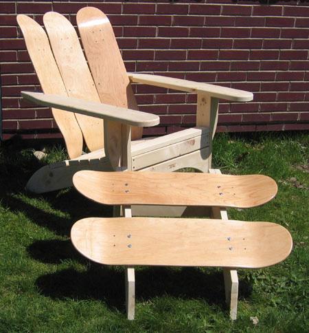 Skateboard Chair