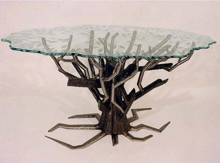 Metal Tree Table