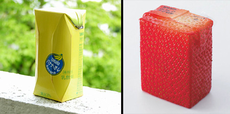 Fruit Juice Packaging by Naoto Fukasawa