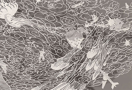 Paper Cutout Drawings by Bovey Lee 6