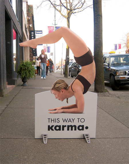 Karma Yoga Advertisement