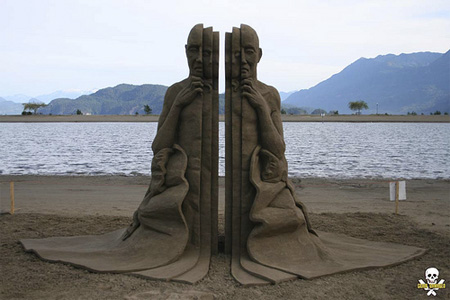 What Lies Beneath Sand Sculpture
