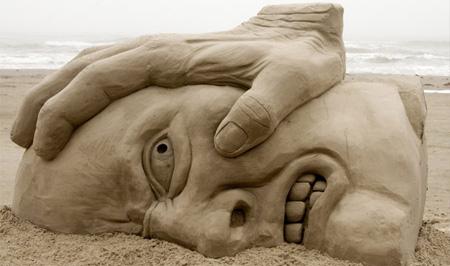 Under Pressure Sand Sculpture