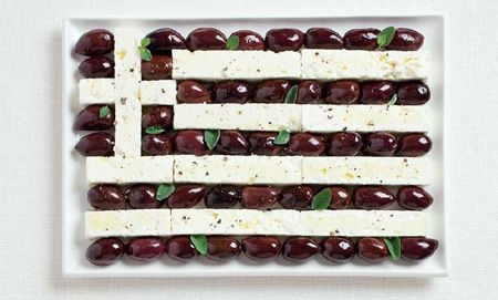 National Flags Made Out of Food Seen On www.coolpicturegallery.net