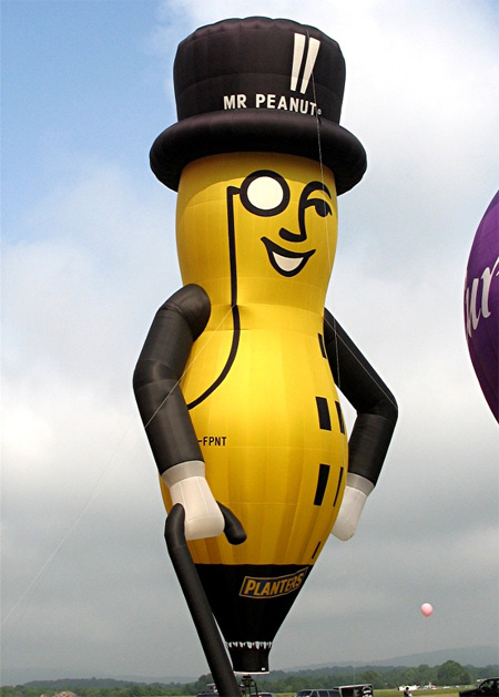 Mr Peanut Hot Air Balloon