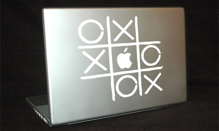 Tic Tac Toe MacBook Sticker