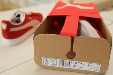 PUMA Sustainable Packaging box