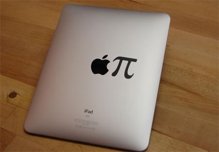 Apple Pi iPad Sticker