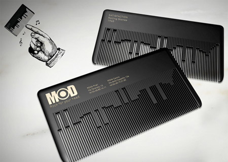Hair Comb Business Card