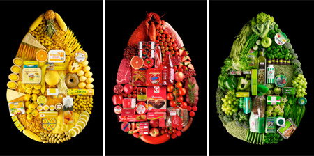Food Arranged by Color