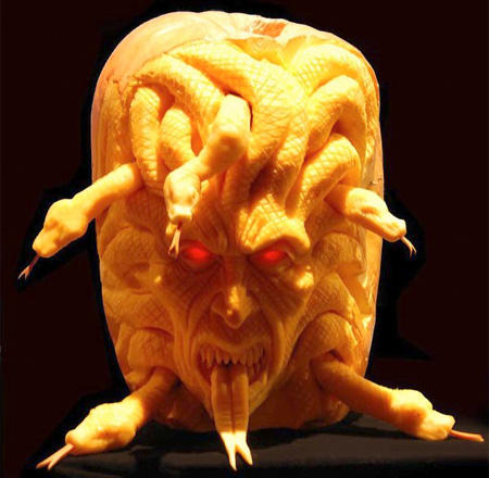 Cool Pumpkin Sculpture