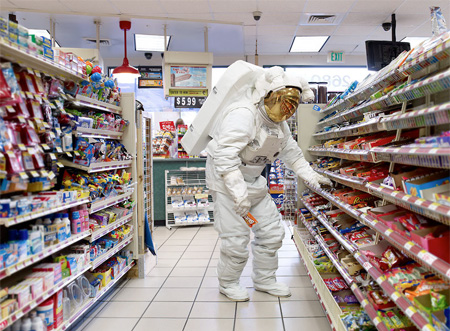 Astronaut at the Store