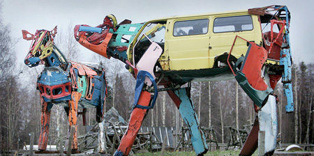 Cars Transformed Into Cows