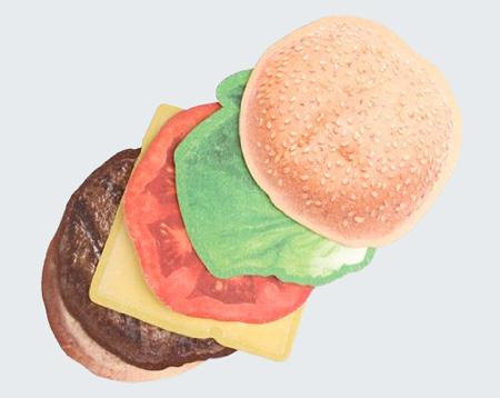 Cheeseburger Coasters