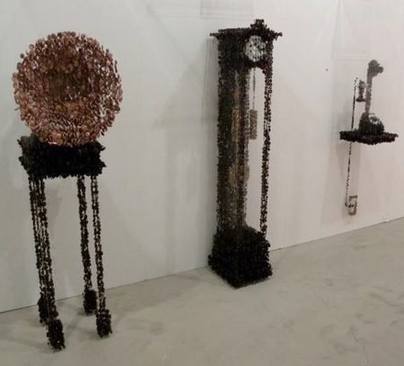 Hanging Button Sculptures