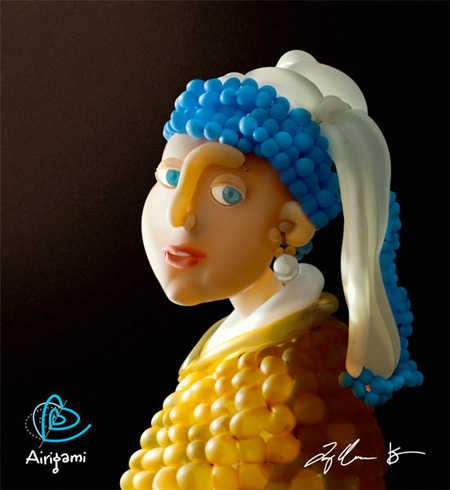 Balloon Girl with a Pearl Earring