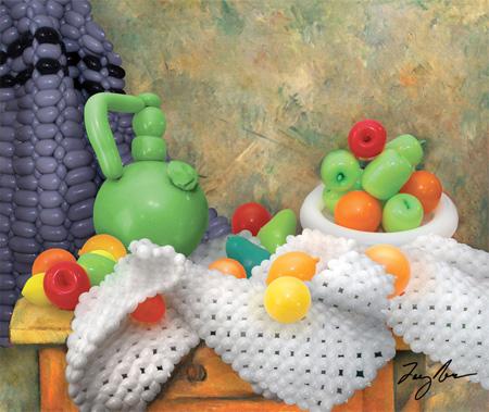 Balloon Still Life with Fruit