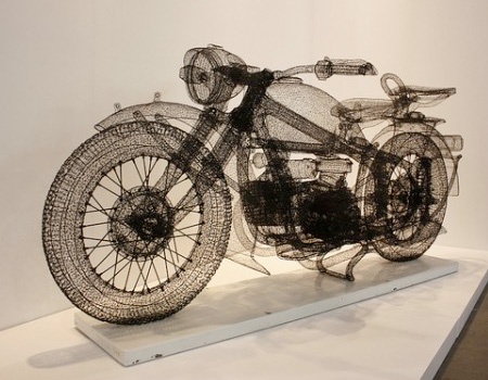 Wireframe Motorcycle