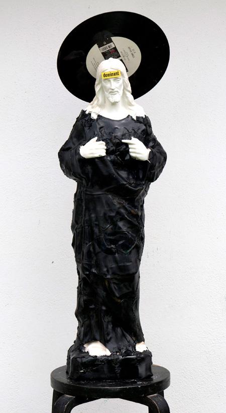 Vinyl Records Sculpture