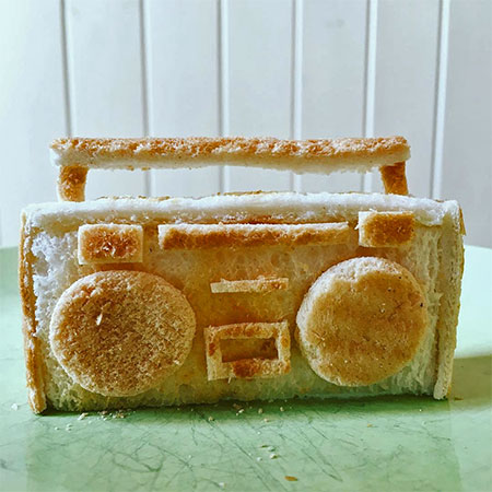 3D Toast Sculptures