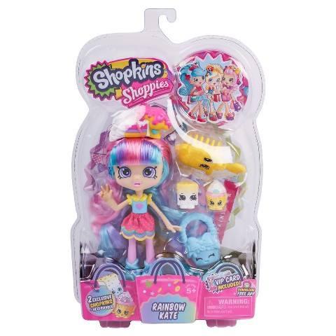 3 NEW Shopkins Shoppies Dolls - Rainbow Kate