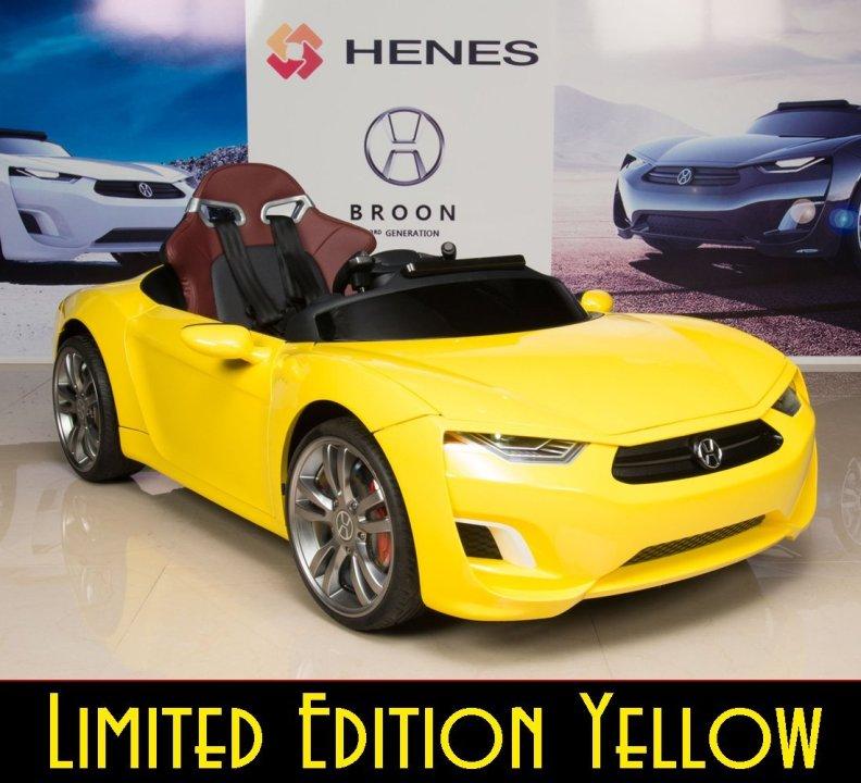 Kids Electric Sports Car Henes Broon F830 Yellow