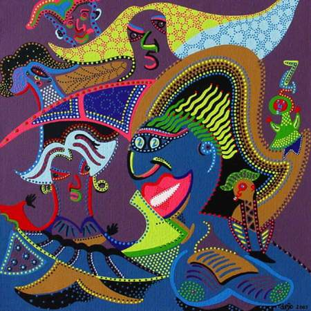 Painting - Colour Laugh - Toyism. Buy art online.