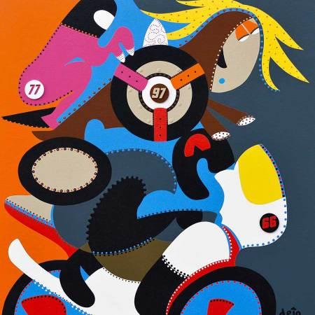 Schilderij - Vrijgekomen Krachten - Toyisme. Hedendaagse kunst online kopen.