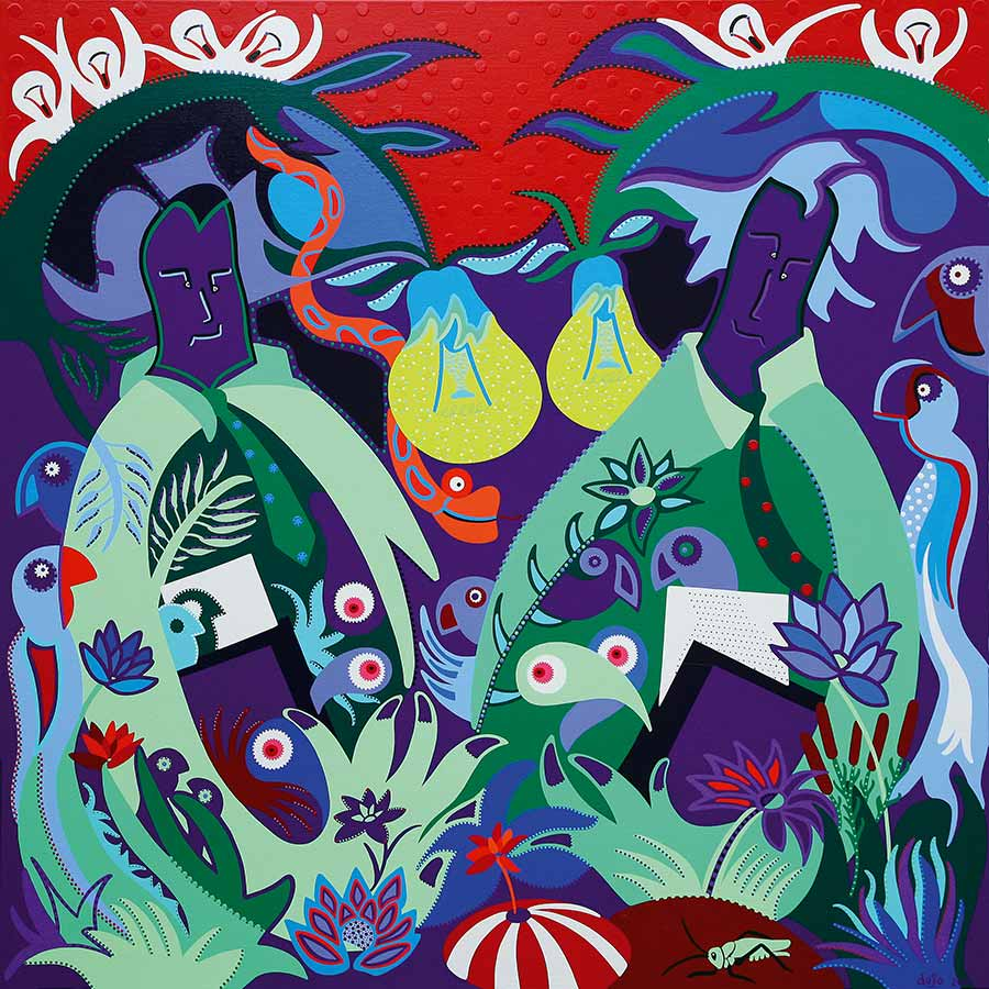 Painting - Guardians Paper Jungle - Toyism. Buy art online.